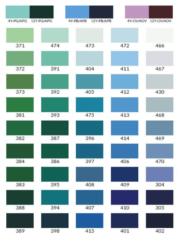 Vortex Spray On Liner Color Chart Vortex Spray On Liners