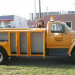 Dept of Roads Truck_Identifying Marker removed