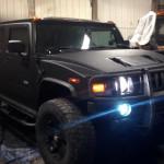 Hummer after light on